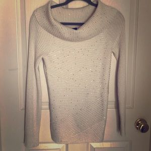WHBM sweater with sequin accents